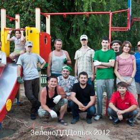 Строительство игровой площадки в интернате (г. Зеленодольск)